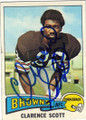 CLARENCE SCOTT CLEVELAND BROWNS AUTOGRAPHED VINTAGE FOOTBALL CARD #22515i