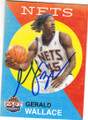 GERALD WALLACE NEW YORK NETS AUTOGRAPHED BASKETBALL CARD #22615B