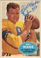 BILL WADE LOS ANGELES RAMS AUTOGRAPHED VINTAGE FOOTBALL CARD #22615E
