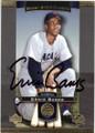 ERNIE BANKS CHICAGO CUBS AUTOGRAPHED BASEBALL CARD #22715C