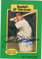 JOE DiMAGGIO NEW YORK YANKEES AUTOGRAPHED BASEBALL CARD #22714F