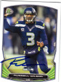 RUSSELL WILSON SEATTLE SEAHAWKS AUTOGRAPHED FOOTBALL CARD #22715H