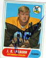 JR WILBURN PITTSBURGH STEELERS AUTOGRAPHED VINTAGE ROOKIE FOOTBALL CARD #30215L