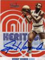 SPENCER HAYWOOD NEW YORK KNICKS AUTOGRAPHED BASKETBALL CARD #30315C