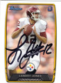 LANDRY JONES PITTSBURGH STEELERS AUTOGRAPHED ROOKIE FOOTBALL CARD #30315H