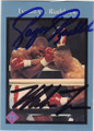 MIKE TYSON & DONOVAN RAZOR RUDDOCK DOUBLE AUTOGRAPHED BOXING CARD #30415C