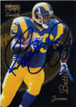 JEROME BETTIS ST LOUIS RAMS AUTOGRAPHED FOOTBALL CARD #30615G