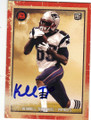 KENBRELL THOMPKINS NEW ENGLAND PATRIOTS AUTOGRAPHED ROOKIE FOOTBALL CARD #30915D