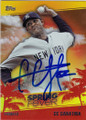 CC SABATHIA NEW YORK YANKEES AUTOGRAPHED BASEBALL CARD #31115A
