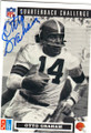 OTTO GRAHAM CLEVELAND BROWNS AUTOGRAPHED FOOTBALL CARD #31315G