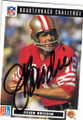 JOHN BRODIE SAN FRANCISCO 49ers AUTOGRAPHED FOOTBALL CARD #31415i
