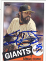 SERGIO ROMO SAN FRANCISCO GIANTS AUTOGRAPHED BASEBALL CARD #31615E