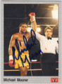 MICHAEL MOORER AUTOGRAPHED BOXING CARD #31615G