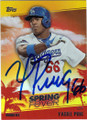 YASIEL PUIG LOS ANGELES DODGERS AUTOGRAPHED BASEBALL CARD #31615L