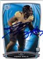 KONY EALY CAROLINA PANTHERS AUTOGRAPHED ROOKIE FOOTBALL CARD #31715B