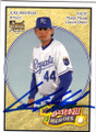 LUKE HOCHEVAR KANSAS CITY ROYALS AUTOGRAPHED ROOKIE BASEBALL CARD #31715C