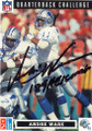 ANDRE WARE DETROIT LIONS AUTOGRAPHED FOOTBALL CARD #31715G