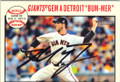 MADISON BUMGARNER SAN FRANCISCO GIANTS AUTOGRAPHED BASEBALL CARD #31815F