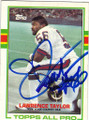 LAWRENCE TAYLOR NEW YORK GIANTS AUTOGRAPHED VINTAGE FOOTBALL CARD #31915D