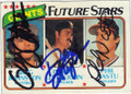 GREG JOHNSTON, DENNIS LITTLEJOHN & PHIL NASTU SAN FRANCISCO GIANTS TRIPLE AUTOGRAPHED VINTAGE BASEBALL CARD #32015C