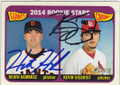 HEATH HEMBREE & KEVIN SIEGRIST SAN FRANCISCO GIANTS DOUBLE AUTOGRAPHED ROOKIE BASEBALL CARD #32015H