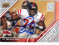MICHAEL OHER OLE MISS REBELS AUTOGRAPHED ROOKIE FOOTBALL CARD #32015M