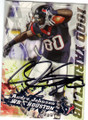 ANDRE JOHNSON HOUSTON TEXANS AUTOGRAPHED FOOTBALL CARD #32115D