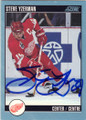 STEVE YZERMAN DETROIT RED WINGS AUTOGRAPHED HOCKEY CARD #32115J