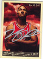 DERRICK ROSE CHICAGO BULLS AUTOGRAPHED BASKETBALL CARD #32215H