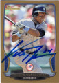 CURTIS GRANDERSON NEW YORK YANKEES AUTOGRAPHED BASEBALL CARD #32315C