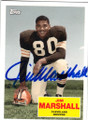 JIM MARSHALL CLEVELAND BROWNS AUTOGRAPHED FOOTBALL CARD #32315G
