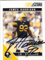 JAMES HARRISON PITTSBURGH STEELERS AUTOGRAPHED FOOTBALL CARD #32415F