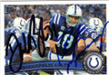 DONALD BROWN & PEYTON MANNING INDIANAPOLIS COLTS DOUBLE AUTOGRAPHED FOOTBALL CARD #32415H