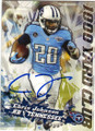 CHRIS JOHNSON TENNESSEE TITANS AUTOGRAPHED FOOTBALL CARD #32415L