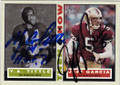 YA TITTLE AND JEFF GARCIA SAN FRANCISCO 49ers DOUBLE AUTOGRAPHED FOOTBALL CARD #32415M