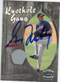 GREG MADDUX ATLANTA BRAVES AUTOGRAPHED & NUMBERED PIECE OF THE GAME BASEBALL CARD #32715L