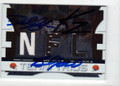 DEREK ANDERSON, BRAYLON EDWARDS & KELLEN WINSLOW JR CLEVELAND BROWNS TRIPLE AUTOGRAPHED & NUMBERED PIECE OF THE GAME FOOTBALL CARD #40315G
