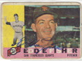 EDDIE FISHER SAN FRANCISCO GIANTS AUTOGRAPHED VINTAGE ROOKIE BASEBALL CARD #40315H