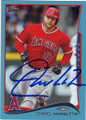 CHRIS IANETTA LOS ANGELES ANGELS OF ANAHEIM AUTOGRAPHED BASEBALL CARD #40615C
