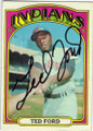 TED FORD CLEVELAND INDIANS AUTOGRAPHED VINTAGE BASEBALL CARD #40715A