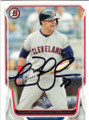 NICK SWISHER CLEVELAND INDIANS AUTOGRAPHED BASEBALL CARD #40815G