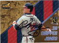 CHIPPER JONES ATLANTA BRAVES AUTOGRAPHED BASEBALL CARD #40815K