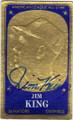 JIM KING WASHINGTON SENATORS AUTOGRAPHED VINTAGE BASEBALL CARD #41015F