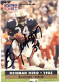 BO JACKSON AUBURN UNIVERSITY & LOS ANGELES RAIDERS AUTOGRAPHED FOOTBALL CARD #41015G