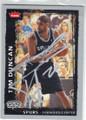 TIM DUNCAN SAN ANTONIO SPURS AUTOGRAPHED BASKETBALL CARD #41015K