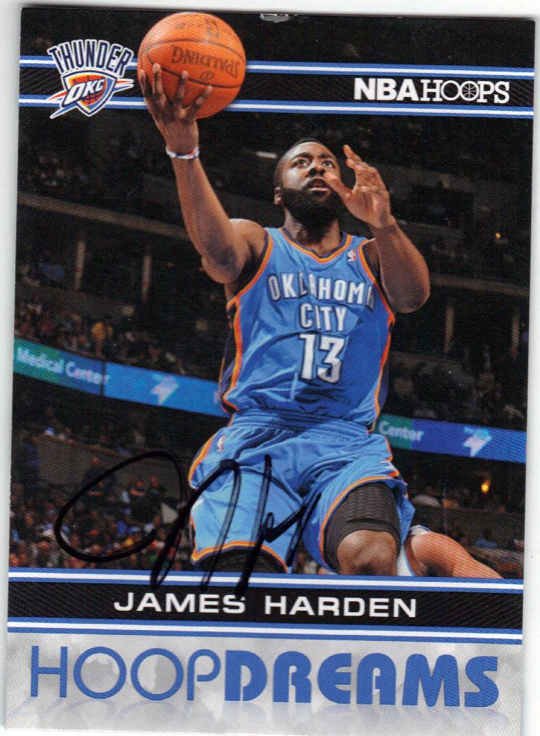 huge selection of a9648 09996 JAMES HARDEN OKLAHOMA CITY THUNDER AUTOGRAPHED BASKETBALL CARD #41215D