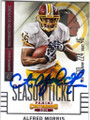 ALFRED MORRIS WASHINGTON REDSKINS AUTOGRAPHED FOOTBALL CARD #41315B