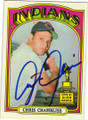 CHRIS CHAMBLISS CLEVELAND INDIANS AUTOGRAPHED VINTAGE ROOKIE BASEBALL CARD #41315O