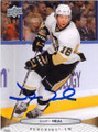 JAMES NEAL PITTSBURGH PENGUINS AUTOGRAPHED HOCKEY CARD #41415C