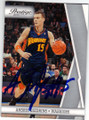 ANDRIS BIEDRINS GOLDEN STATE WARRIORS AUTOGRAPHED BASKETBALL CARD #41415D